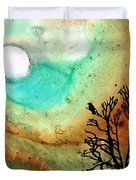 Summer Moon - Landscape Art By Sharon Cummings Duvet Cover