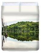 Summer Morning On Monksville Reservoir 2 Duvet Cover by Gary Heller