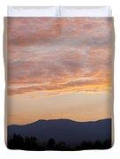 Summer Mountain Dusk Duvet Cover
