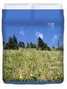 Summer Mountain Landscape Duvet Cover