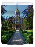 Summer On Notre Dame Campus Duvet Cover