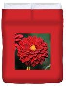 Fiery Red Dahlia Duvet Cover