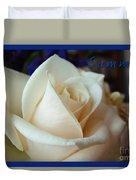 Summer Rose Sapphire Border Duvet Cover