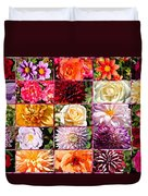 Summer Roses And Dahlias 2013 Duvet Cover