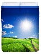 Summer Rural Landcape Duvet Cover