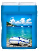 Summer Sailing In The Med Duvet Cover