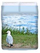 Summer Sea Gull Duvet Cover