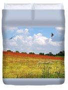 Summer Spectacular - Red Kites Over Poppy Fields Duvet Cover