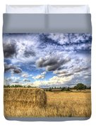 Summer Straw Bales Duvet Cover