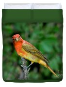 Summer Tanager Changing Color Duvet Cover