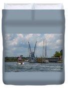 Summer Time Boating Duvet Cover