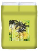 Summer Time In The Tropics By Madart Duvet Cover