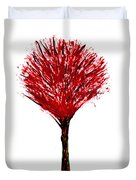 Summer Tree Painting Isolated Duvet Cover