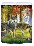 Summer Wolf Family Duvet Cover by Jan Patrik Krasny