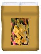 Summer Yellow Gladiolus Duvet Cover