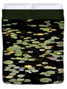 Summer's End Lily Pads Duvet Cover