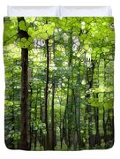 Summer's Green Forest Abstract Duvet Cover