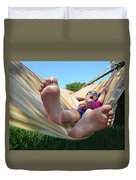 Summertime And The Livin' Is Easy Duvet Cover by Laura Fasulo