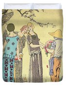 Summertime Dress Designs By Paul Poiret Duvet Cover by French School