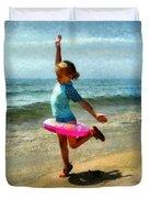 Summertime Girl Duvet Cover