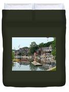Summertime On Boathouse Row Duvet Cover