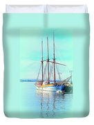 Summertime Will Be Soon And Then We Will Sail Away Again  Duvet Cover