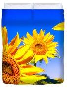 Summertime Sunflowers Duvet Cover