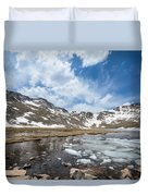 Summit Lake In The Spring Duvet Cover
