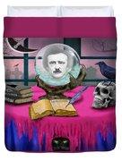 Summoning Edgar Allan Poe Duvet Cover