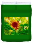 Sun And A Flower Duvet Cover
