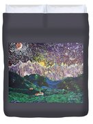 Sun And Moon Night Duvet Cover
