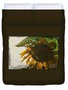 Sun And Sunflower Duvet Cover