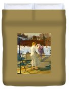 Sun And Wind On The Roof Duvet Cover