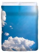 Sun Burst On A Blue Sky And Clouds Duvet Cover