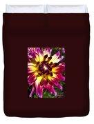 Sun Burst Purple Dahlia Duvet Cover