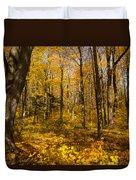 Sun Dappled Autumn Forest  Duvet Cover