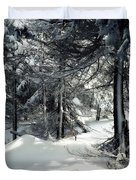 Sun Dappled Snow Duvet Cover