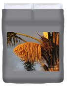 Sun Glowing Palm Duvet Cover