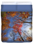 Sun In Fall Forest Canopy  Duvet Cover