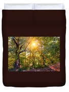 Sun In The Autumn Forest Duvet Cover