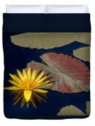 Sun-kissed Water Lily Duvet Cover