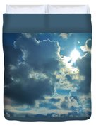 Sun Peeping Out Duvet Cover