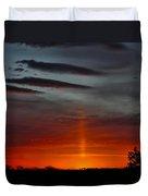Sun Pillar In The Morning Duvet Cover