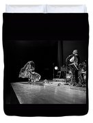 Sun Ra Dancer And Marshall Allen Duvet Cover by Lee  Santa