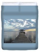 Sun Rays On The Lake Duvet Cover