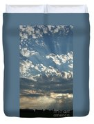 Sun Rays Through The Clouds   # Duvet Cover