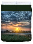 Sun Rays Vs Rain Clouds Duvet Cover