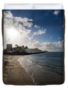Sun Sand And Waves - Waikiki Honolulu Hawaii Duvet Cover