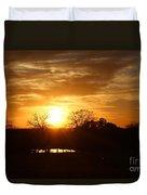 Sun Setting Over The Pond Duvet Cover
