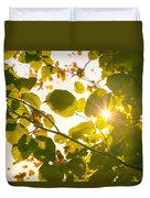 Sun Shining Through Leaves Duvet Cover